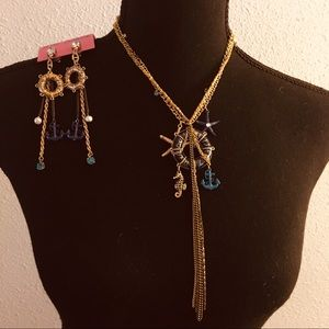 🧜🏽‍♀️Nautical Necklace & Earrings